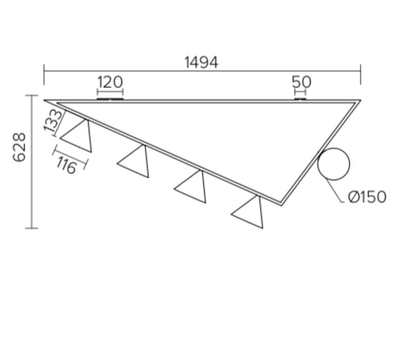 Triangle girlande gwendolyn et guillane kerschbaumer plafonnier ceilling light  atelier areti 385ol c03 br01   design signed nedgis 73521 product