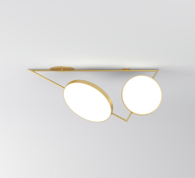Triangle variations gwendolyn et guillane kerschbaumer plafonnier ceilling light  atelier areti 356ol c04 br01   design signed nedgis 73054 product