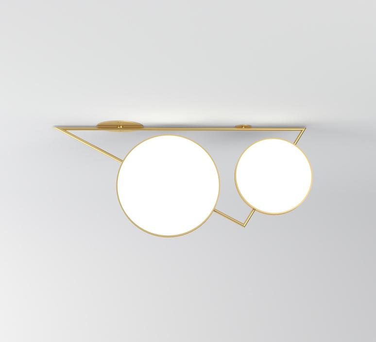 Triangle variations gwendolyn et guillane kerschbaumer plafonnier ceilling light  atelier areti 356ol c04 br01   design signed nedgis 73056 product