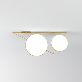 Plafonnier triangle variations laiton l101 5cm h43 5cm atelier areti normal
