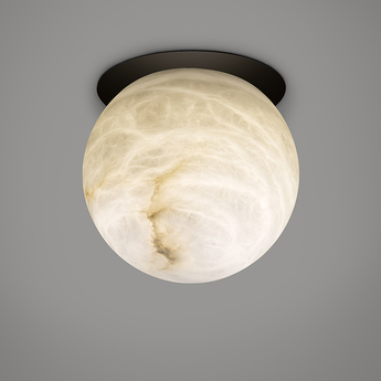 Plafonnier tribeca downlight noir led 2700k 270lm o12cm h12cm alma light normal