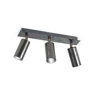 Plafonnier triple orientable sofisticato 22 bleu acier o7 5cm h32cm serax normal