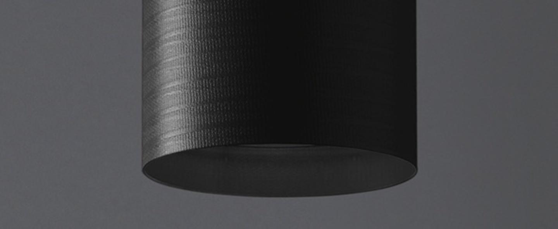 Plafonnier tube 40 noir h40cm o14cm karboxx normal