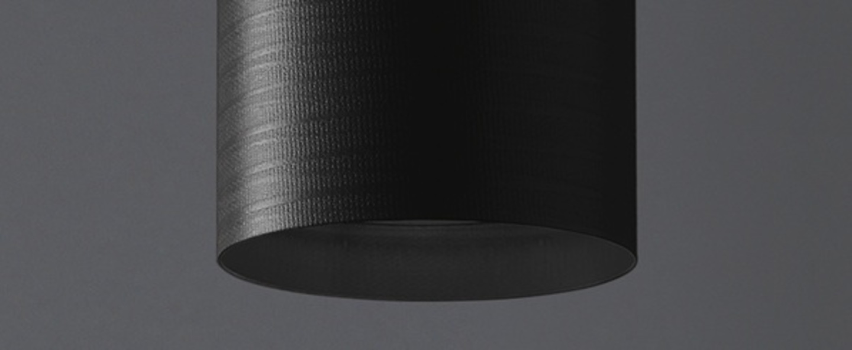 Plafonnier tube 70 noir h70cm o14cm karboxx normal