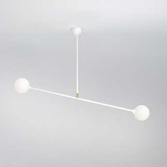Plafonnier two spheres blanc h71cm l90cm atelier areti normal