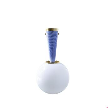 Plafonnier upside down brass 30 blu senza tempo o30cm h57 9cm magic circus normal