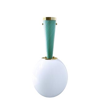 Plafonnier upside down brass 30 verde immaginario o30cm h57 9cm magic circus normal