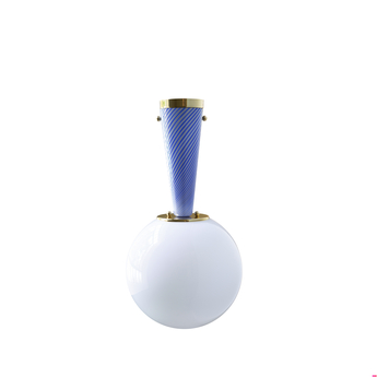 Plafonnier upside down brass 40 blu senza tempo o40cm h76 4cm magic circus normal