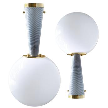 Plafonnier upside down brass 40 grigio enigmatico o40cm h76 4cm magic circus normal