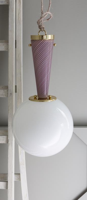 Plafonnier upside down brass 50 rosa da sogno o50cm h95 3cm magic circus normal