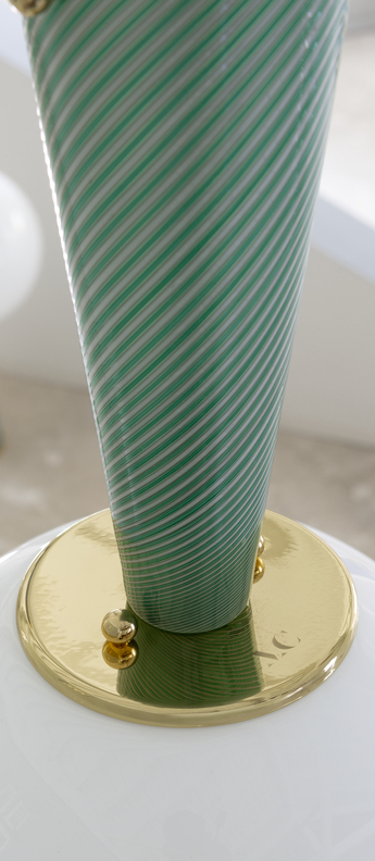 Plafonnier upside down brass 50 verde immaginario o50cm h95 3cm magic circus normal