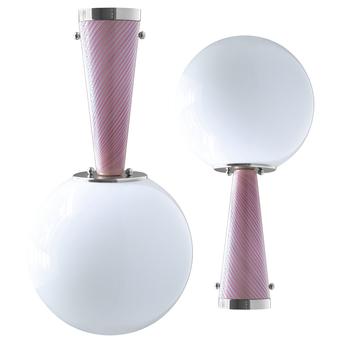 Plafonnier upside down nickel 30 rosa da sogno o40cm h76 4cm magic circus normal
