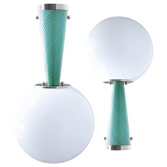 Plafonnier upside down nickel 40 verde immaginario o40cm h76 4cm magic circus normal