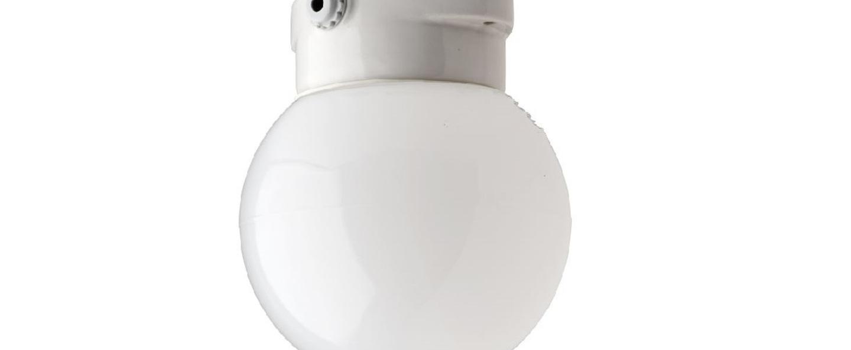 Plafonnier waterproof blanc ip54 o16cm h16cm zangra normal