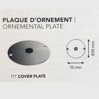 Plaque d ornement inox pour collection itt o8 5cm dcw normal
