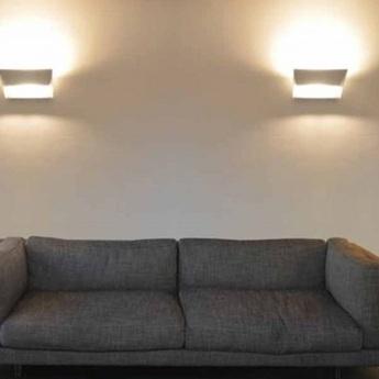 Pplique murale mail blanc l34cm h18cm lumen center italia normal