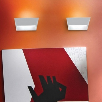 Pplique murale mail led blanc 3000k 2320lm l34cm h18 lumen center italia normal