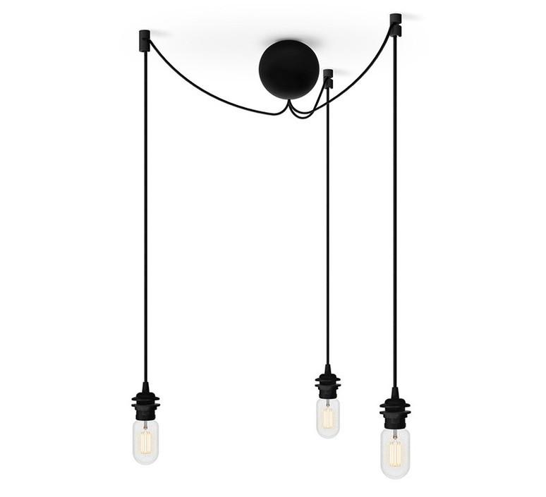 Rosace cannonball noir cluster 3 e27 15w o12cm vita copenhagen 52410 product