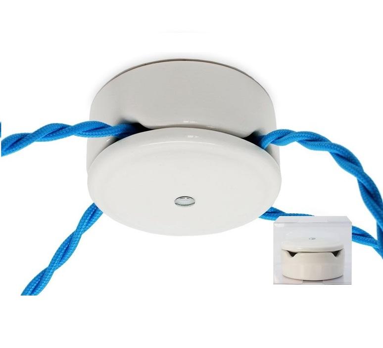 Rosace en porcelaine blanche multiple max 4 fils tresses zangra 30593 product