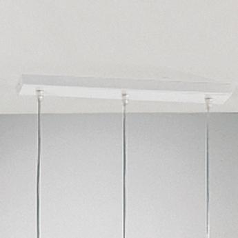 Rosace horizontale 3 sorties l42cm h7 5cm blanc panzeri normal