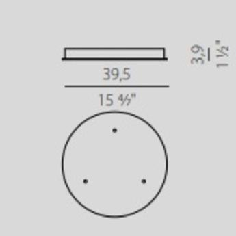 Rosace multiple 3 sorties blanc o39 5cm panzeri normal