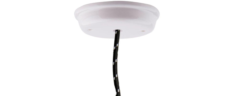 Rosace pure porcelaine blanc o11 5cm h3cm studio zangra normal