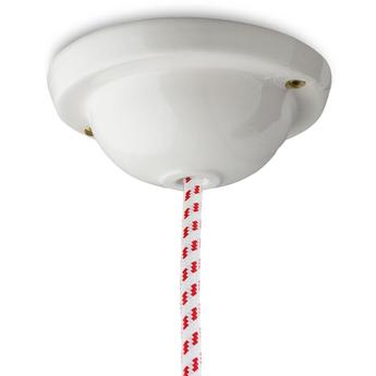 Rosace pure porcelaine blanc o12 5cm h5cm studio zangra normal
