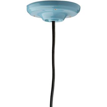 Rosace pure porcelaine bleu o10cm h3cm studio zangra normal