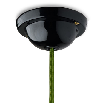 Rosace pure porcelaine noir o12 5cm h5cm studio zangra normal