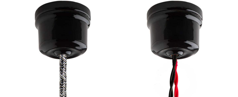 Rosace pure porcelaine noir o6cm h5cm studio zangra normal