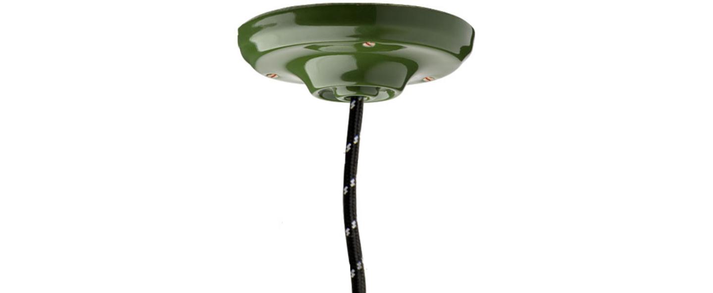 Rosace pure porcelaine vert o10cm h3cm studio zangra normal