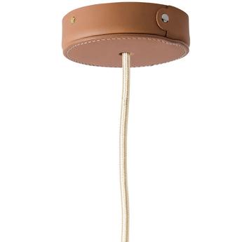 Rosace rosace en cuir marron o10 5cm h2 5cm studio zangra normal