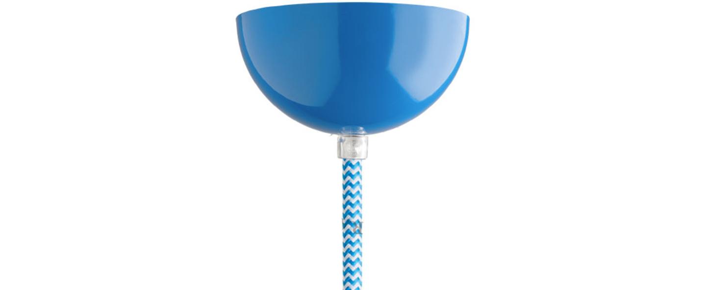 Rosace rosace en metal bleu o10cm h5cm studio zangra 5415249002596 normal