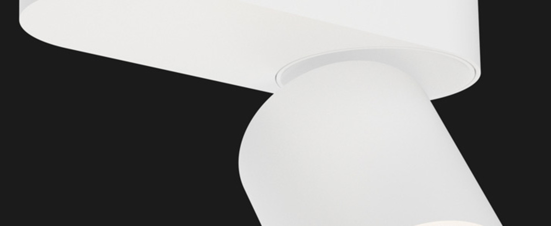 Spot atlas base blanc led o9cm h11cm doxis normal
