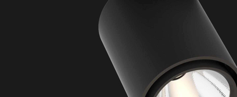 Spot atlas base noir matt led o9cm h11cm doxis normal