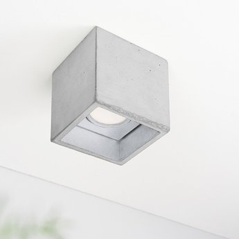 Spot b7 gris argent led l10cm h10cm gantlights normal