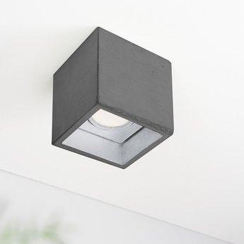 Spot b7 gris fonce argent led l10cm h10cm gantlights normal