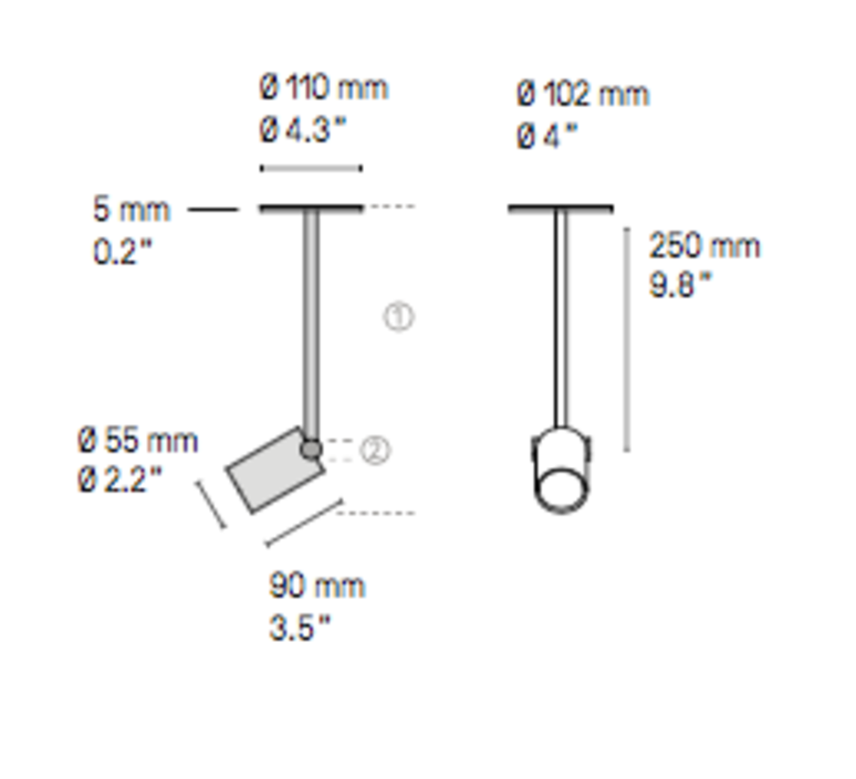 Calee xs  spot spot light  cvl calee spot xs  design signed 53377 product
