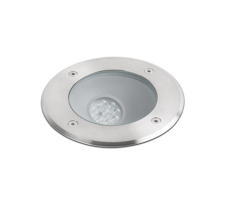 Spot de sol encastrable asym trique inox led 3000k for Spot led encastrable exterieur terrasse