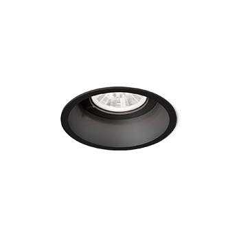 Spot deep 1 0 led noir led 4000k 610 830lm o8 4cm h8 5cm wever ducre normal