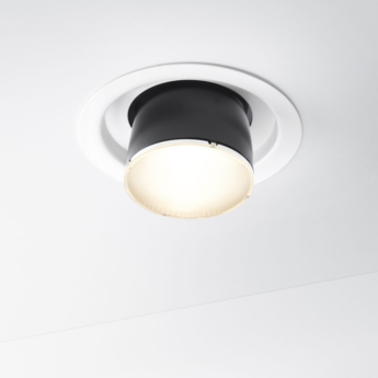 Spot encastrable claque f43 blanc noir led o13cm h33 5cm fabbian normal