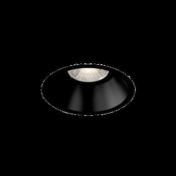 Spot encastrable deep 1 0 led fixe noir o8 4cm h10 2cm 2700k 36 910lm wever ducre normal