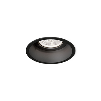 Spot encastrable deep 1 0 led noir led 3000k 570 770lm o8 4cm h8 5cm wever ducre normal