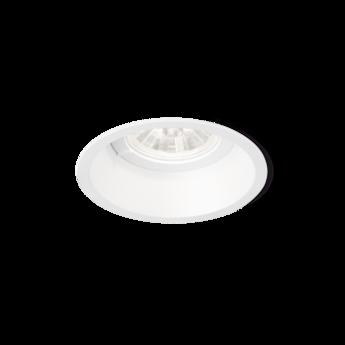 Spot encastrable deep 1 0 ip44 2700k 470lm blanc o9 5cm h8 5cm wever ducre normal