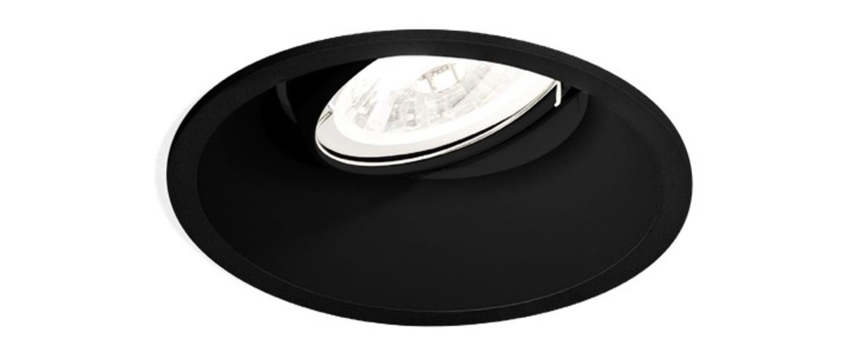 spot encastrable deep adjust 1 0 led noir 9 4cm h8 5cm 2700k wever ducr luminaires. Black Bedroom Furniture Sets. Home Design Ideas