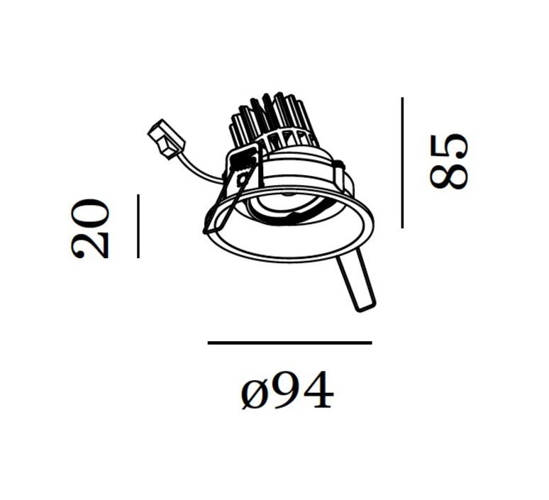 Deep adjust 1 0 led studio wever ducre spot encastrable recessed light  wever et ducre 112361b 3  design signed 35382 product
