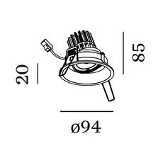 Deep adjust 1 0 led studio wever ducre spot encastrable recessed light  wever et ducre 112361b 3  design signed 35382 thumb