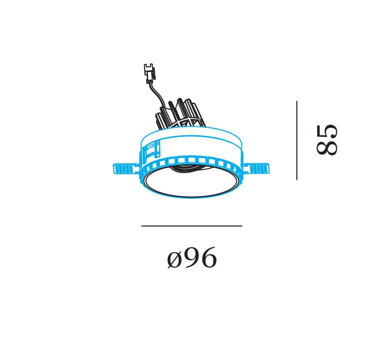 Deep adjust trimless 1 0 led studio wever ducre spot encastrable recessed light  wever et ducre 112861w3  design signed nedgis 119289 product