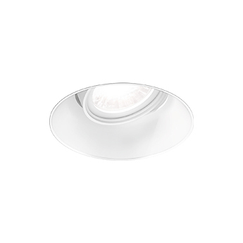 Spot encastrable deep adjust trimless 1 0 led blanc led 2700k 530 710lm o9 6cm h8 5cm wever ducre normal