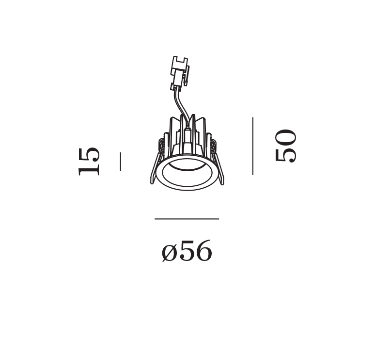 Deep bijou ip65 1 0 led studio wever ducre spot encastrable recessed light  wever et ducre 165361w3  design signed nedgis 118621 product